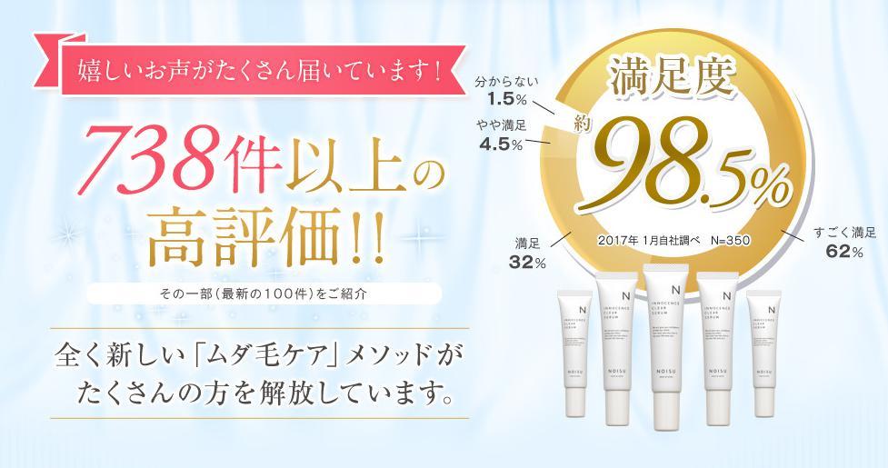 ノイス-NOISU- 顧客満足度98.5%